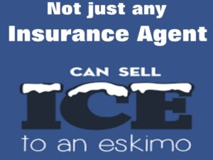 A good insurance agent, not one that can sell ice to an eskimo