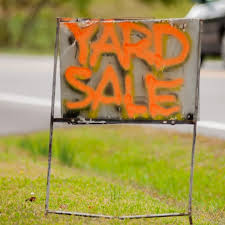 Review your insurance policy before having a yard sale or garage sale at your home.  It is possible that you may not have liability insurance coverage.